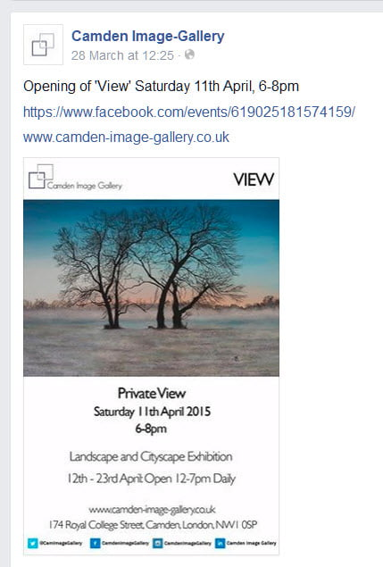 New – Joint show at Camden Image Gallery  12 -23 April 2015