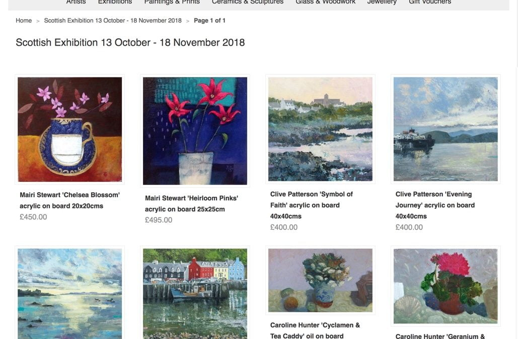 Iona House Gallery – Exhibtion of Scottish Art