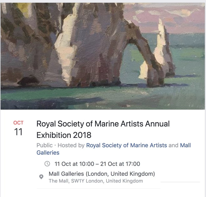 Royal Institute of Marine Artists – Annual exhibtion at the Mall Galleries