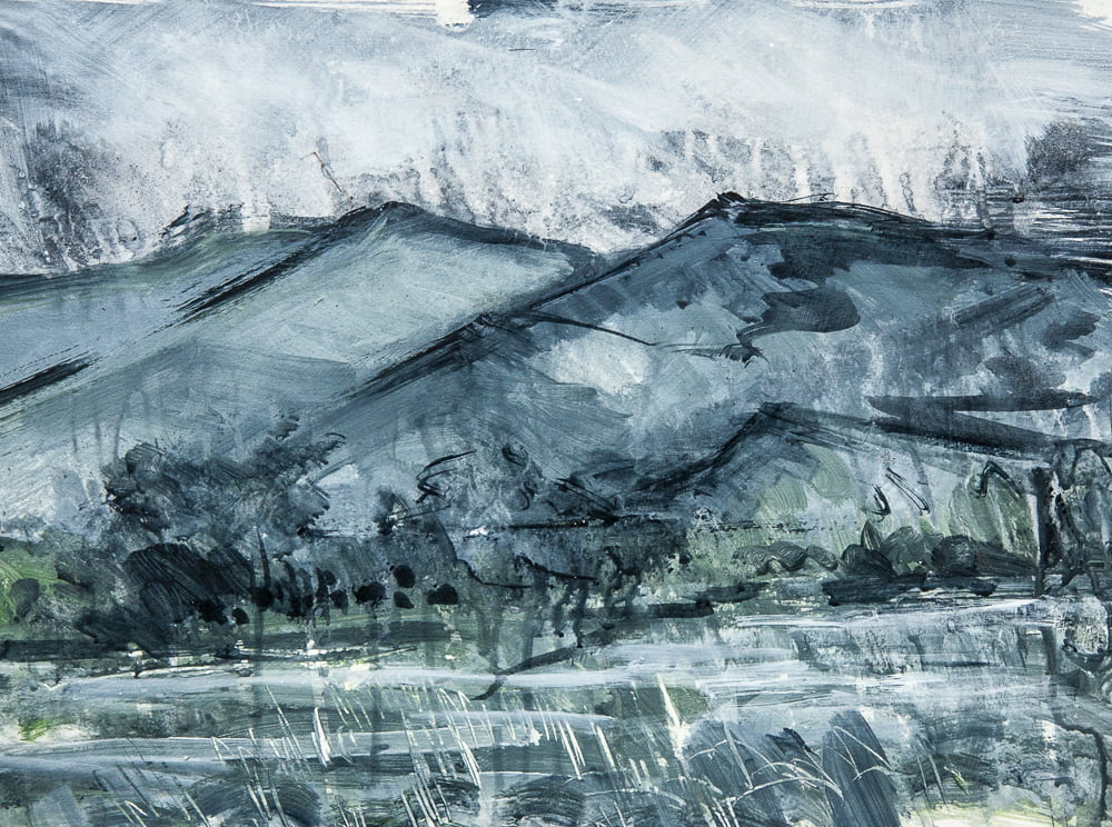 Catbells in a Storm – (Sold)