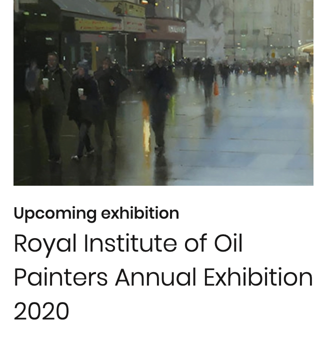 Showing at the Royal Institute of Oil Painters 2020 exhibition